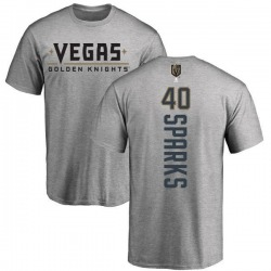 Youth Garret Sparks Vegas Golden Knights Backer T-Shirt - Heathered Gray