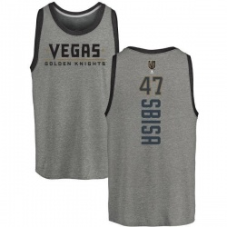 Youth Luca Sbisa Vegas Golden Knights Backer Tri-Blend Tank - Heathered Gray
