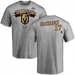Youth Nick Suzuki Vegas Golden Knights 2018 Western Conference Champions Long Change T-Shirt - Heather Gray