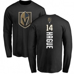 Youth Nicolas Hague Vegas Golden Knights Backer Long Sleeve T-Shirt - Black