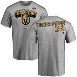 Youth Paul Thompson Vegas Golden Knights 2018 Western Conference Champions Long Change T-Shirt - Heather Gray