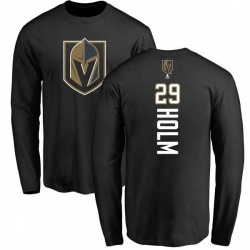 Youth Philip Holm Vegas Golden Knights Backer Long Sleeve T-Shirt - Black