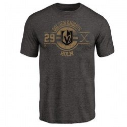 Youth Philip Holm Vegas Golden Knights Insignia Tri-Blend T-Shirt - Black