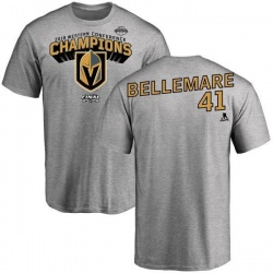 Youth Pierre-Edouard Bellemare Vegas Golden Knights 2018 Western Conference Champions Long Change T-Shirt - Heather Gray