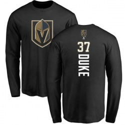 Youth Reid Duke Vegas Golden Knights Backer Long Sleeve T-Shirt - Black