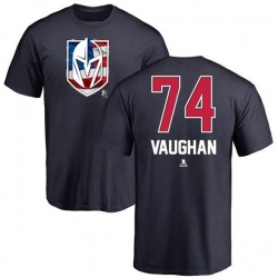 Youth Scooter Vaughan Vegas Golden Knights Name and Number Banner Wave T-Shirt - Navy