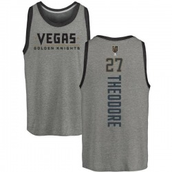Youth Shea Theodore Vegas Golden Knights Backer Tri-Blend Tank - Heathered Gray