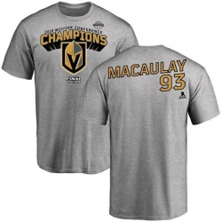 Youth Stephen MacAulay Vegas Golden Knights 2018 Western Conference Champions Long Change T-Shirt - Heather Gray