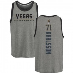 Youth William Karlsson Vegas Golden Knights Backer Tri-Blend Tank - Heathered Gray