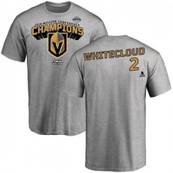 Youth Zach Whitecloud Vegas Golden Knights 2018 Western Conference Champions Long Change T-Shirt - Heather Gray